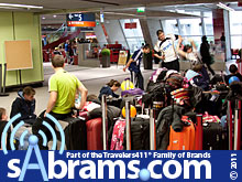 Student travelers delayed at airport