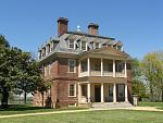 Guided tours of the Great House, circa 1738, await visitors to Shirley Plantation today.  Notice the 3 1/2 ft. wooden pineapple at the peak of the...
