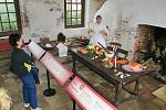 Located in the originial Kitchen building, this exhibit shows what meal preparation and diet was like at Shirley Plantation.