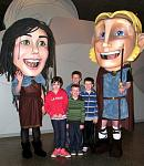 Giant Finn McCool and his wife, Oonagh, meet with some local children. The myths and legends associated with the Giant's Causeway are a significant...