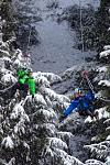 A winter flight with Superfly ziplines, Whister, B.C.