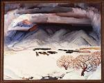"""Winter Funeral"" by E. Martin Hennings, a painting in the collection of the Harwood Museum of Art in Taos, New Mexico."