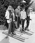 Senator Ted Kennedy skiing at Butternut Basin with his family in 1963 when we first opened.