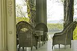 Relax on the porch overlooking the Hudson River at historic Montgomery Place in Annandale-on-Hudson.