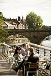 A riverside view in the city of York, England.  © www.visityork.org