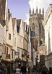 A view of York Minster from Low Petergate in York.  © www.visityork.org