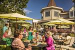 Lake Tahoe Resort Hotel's Echo restaurant offers an outdoor deck to enjoy Tahoe's sunshine.