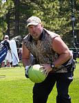 Larry the Cable Guy poses for the camera during the 2013 American Century Championship at Edgewood Tahoe Golf Course in Stateline, NV. This...