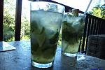 Mojitos!  At Belcampo Lodge's bar.  Rest assured, these drinks are finely crafted and DELICIOUS!