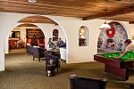 Our cozy lobby offers lots of nooks for reading, playing family board games, billiards, or relaxing by a warm inviting fire.