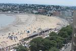 Aerial view of Revere Beach during the festival