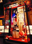 Taken by Jeff Julian, this photo shows some of the artifacts displayed at the Muhammad Ali Center, including the custom robe made on behalf of Elvis...