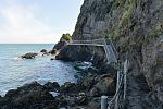 The Gobbins path clings to the cliff face, the only one of its kind in Europe.