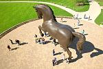 The American Horse by famed animal sculptor, Nina Akamu. Frederik Meijer Gardens & Sculpture Park Credit: Experience Grand Rapids