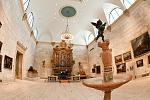 Fountain Court featuring North America's oldest working Italian Baroque Organ surrounded by paintings from 5,000 years of world art.    Interior...
