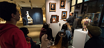 Foreman Gallery featuring portraits from 5,000 years of world art.    Interior photos | September 2016.   photo: J. Adam Fenster/University of...