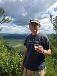 Will Garrison on top Monument Mountain Aug 2016 during the annual hike to commemorate the meeting of Herman Melville and Nathaniel Hawthorne.