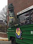 Boston Duck Tours Departing from the Boston Museum of Science with T-Rex on Stand By