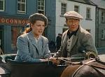 Maureen O'Hara and John Wayne in Castletown - the fictional name given to Cong in The Quiet Man