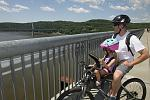 Photo of bikers on the Walkway Over the Hudson.    Courtesy of Dutchess Tourism