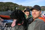 Family boat ride on Lake Placid