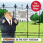 "Our album cover, ""Orange Is the New Barack."" This is our most recent release."