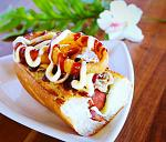 Hale Pops Gourmet Hot Dogs, located at the Hukilau Marketplace! Offering foot-long, 100% Angus Beef gourmet hot dogs served on grilled French Bread!...