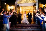 Inn on Broadway entrance, with a Sparkler send off for one of our Brides and Grooms.