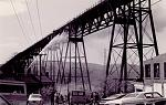 Poughkeepsie-Highland Railroad, now the Walkway Over the Hudson, fire in 1974.