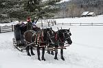 A winter sleigh ride around the Museum grounds
