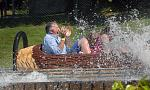 Log Flume splash ride in the Pirate Adventure Park at Westport House
