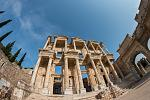 The Library of Celsus is an ancient Roman building in Ephesus. Visit on the included excursion in Kusadasi, Turkey