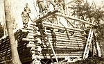 CCC Cabin Construction 1935 - by MASS DCR Archives