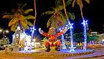 Holiday Decoration by night Curacao 3