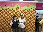 Dutch Udder (final Troy taste stop) waffle wall during Enchanted City