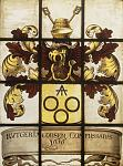 This is one of at least five heraldic windows from the Reformed Protestant Dutch church in Beverwyck (now Albany), erected in 1656. The windows were...