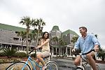 Guests Riding Complimentary Bicycles