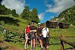 Trekking the Haute Route in Switzerland Sue with her husband and two sons