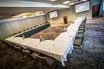 Hotel Boulderado Columbine set for a meeting. The property boasts 12 meeting and event spaces, totaling over 10,000 customization square feet that...