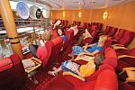 The relaxing James Joyce lounge on board Ulysses.