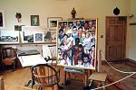 "Interior of Norman Rockwell's Stockbridge studio, installed to look as it did back in the year 1960, when the artist was working on his painting ""The..."