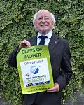 New President of the Republic of Ireland supporting the Cliffs of Moher's bid to become one of the New 7 Wonders of Nature