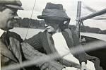 Sir John and Lady Leonie Leslie on boating on Glaslough lake in Monaghan Ireland c 1912.