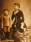 Winston Churchill aged six in Dublin with his American favorite aunt Lady Leonie Leslie