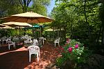 The terraced gardens at Ashland Creek Inn.  One of three locations we serve our gourmet breakfast.  Our chefs were recruited from some of the finest...