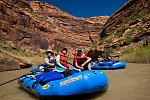 A group expores the sights on a Dolores River multi-day white water rafting trip.