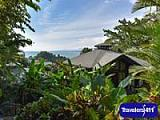 Located in Costa Rica with lush thickly forested surroundings and ocean views.