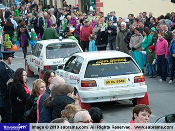 The 2010 Saint Patrick Day Parade in Lanesborough, County Longford, ireland.