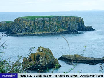 Island off the Antrim Coast of Ireland.