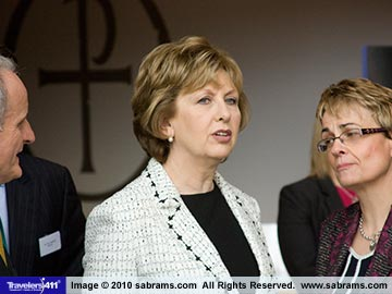 Mary McAleese, President of Ireland.